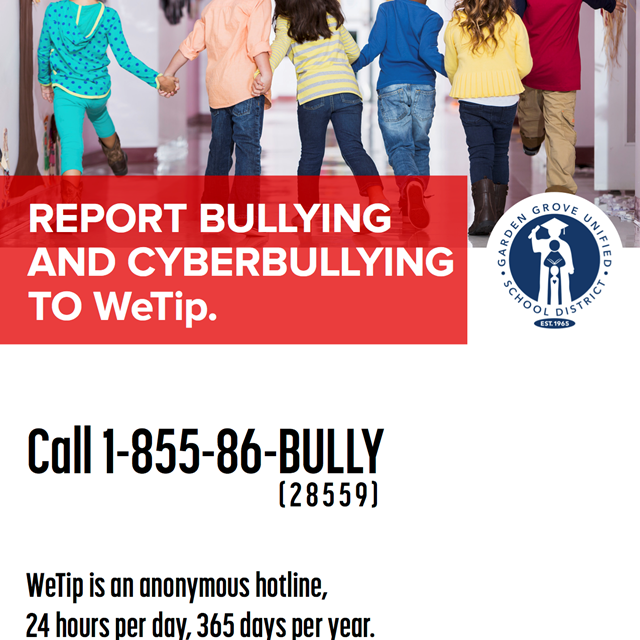 Please remember to look out for each other. Let us put an end to bullying.