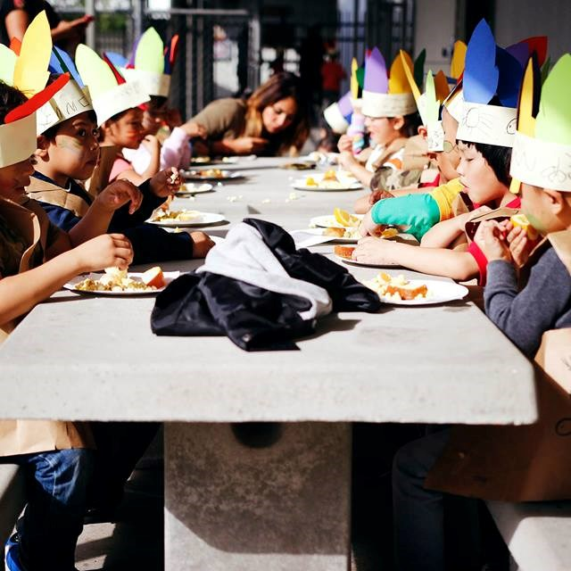 Our Thanksgiving lunch has students contemplating what they are thankful for.