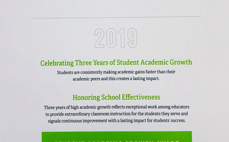 Gilbert receives Student Academic Growth Award - article thumnail image