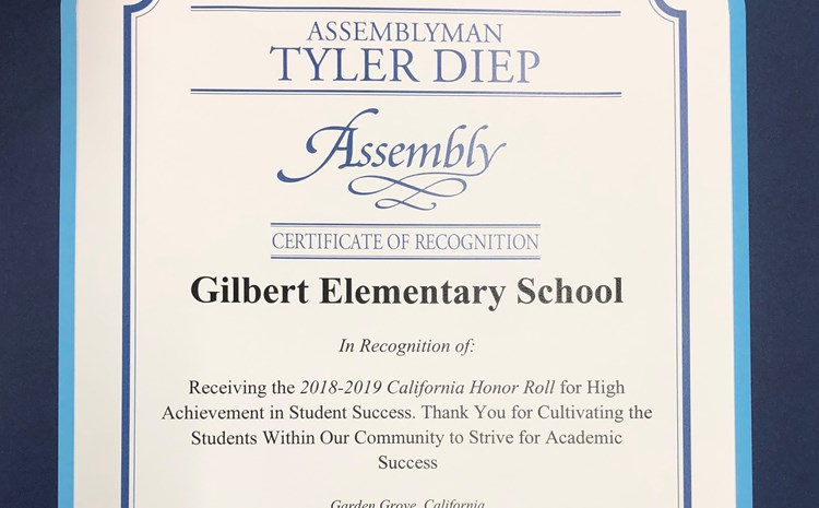 Assemblyman Tyler Diep recognizes Gilbert Elementary - article thumnail image